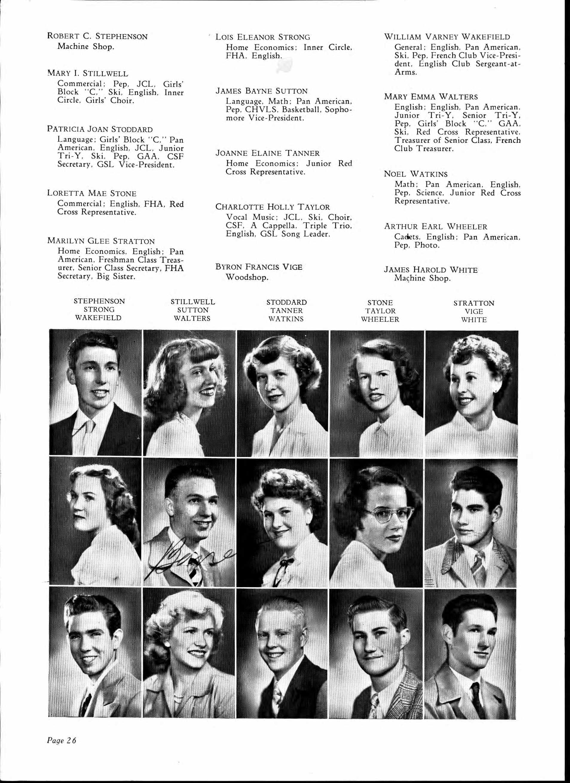 Chico High School yearbook - Loretta